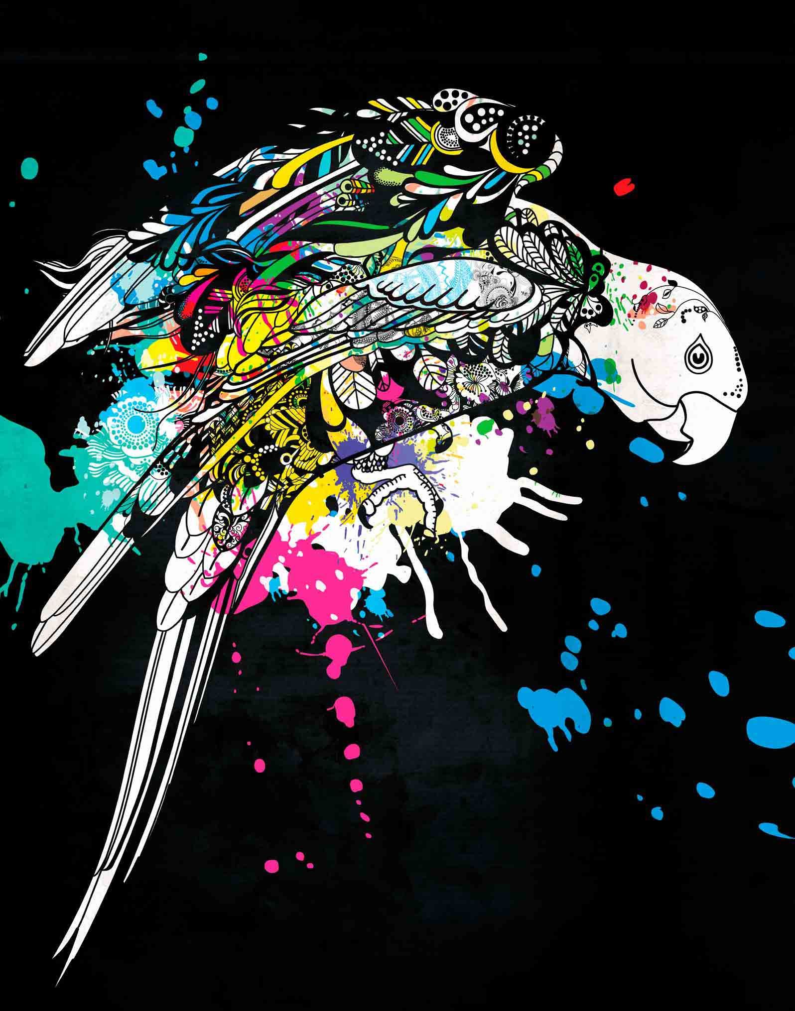 Anca Stefanescu | Contemporary Painter | Dancing Rainbow Digital Art