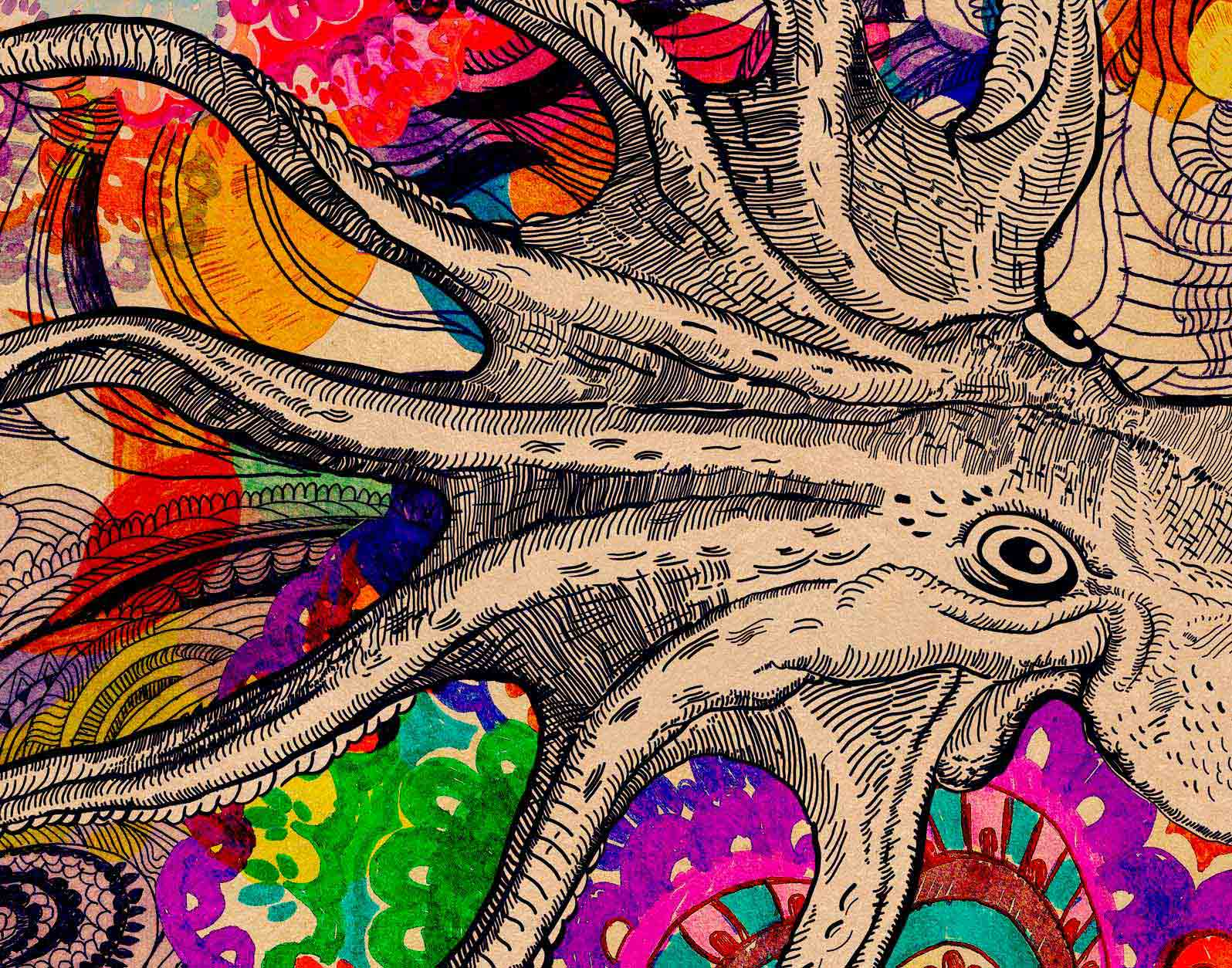 Anca Stefanescu | Octopus's Garden Digital Art, Print On Canvas