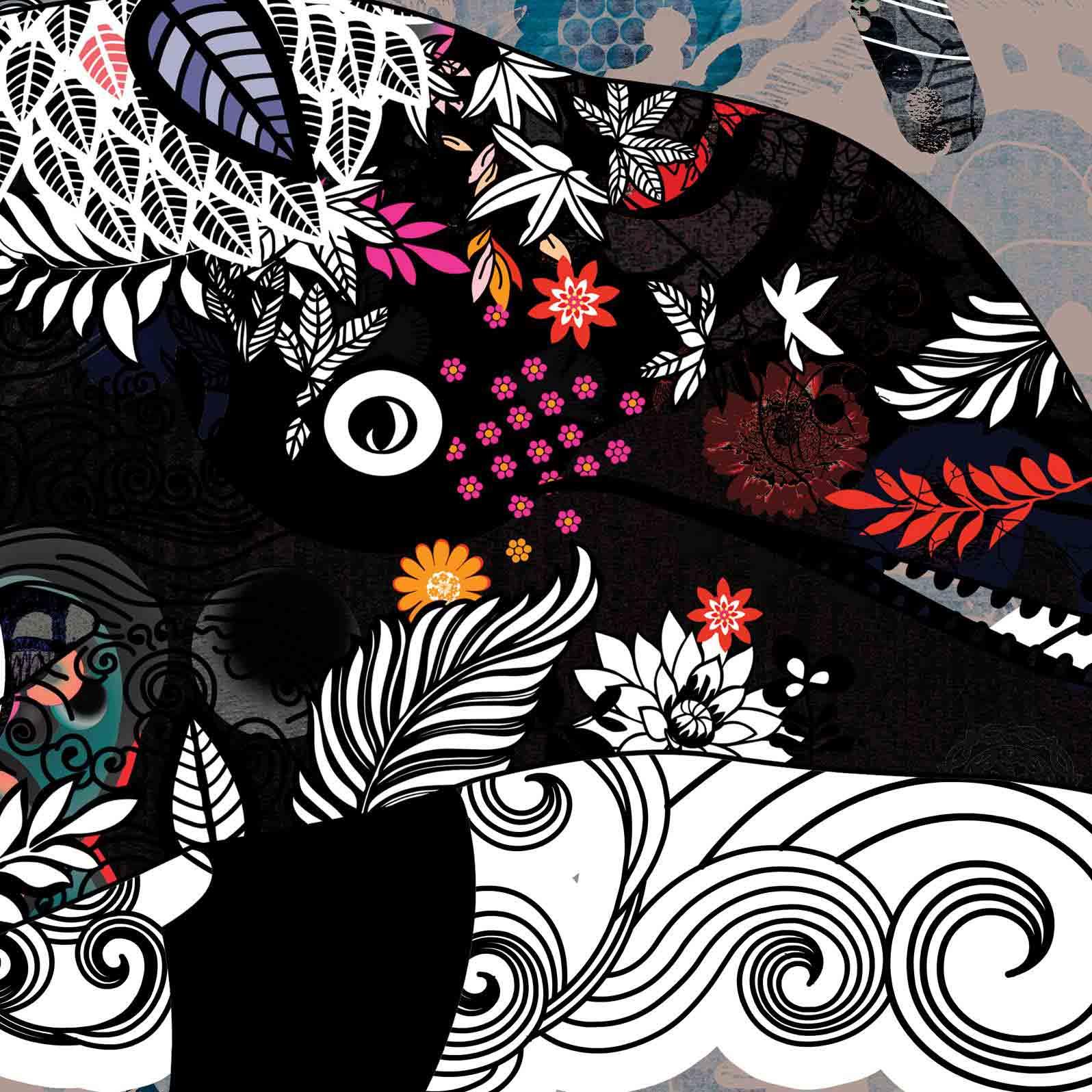 Anca Stefanescu | Flying Dolphin Digital Art, Print On Canvas