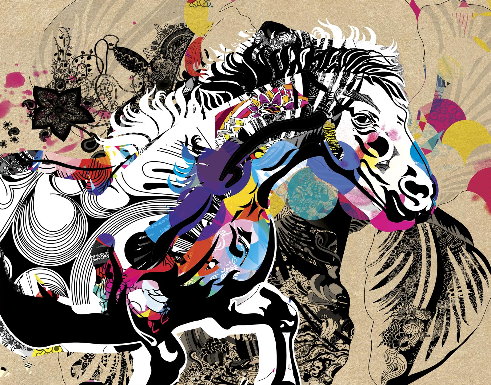Anca Stefanescu | For I Love Horses Digital Art, Limited Edition Print On Canvas