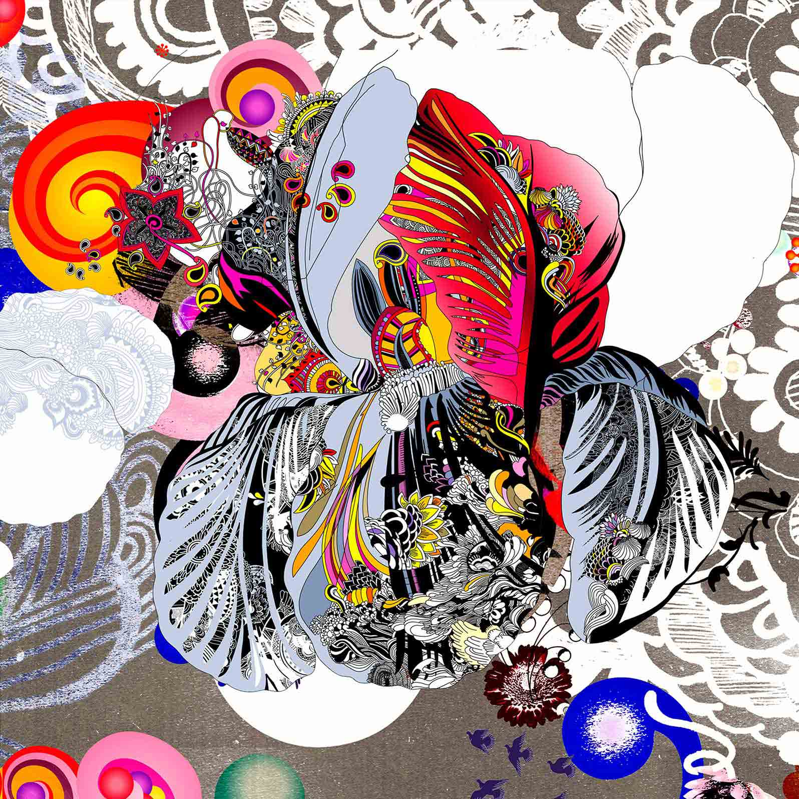 Anca Stefanescu | Hamatreya Digital Art, Limited Edition Print On Canvas