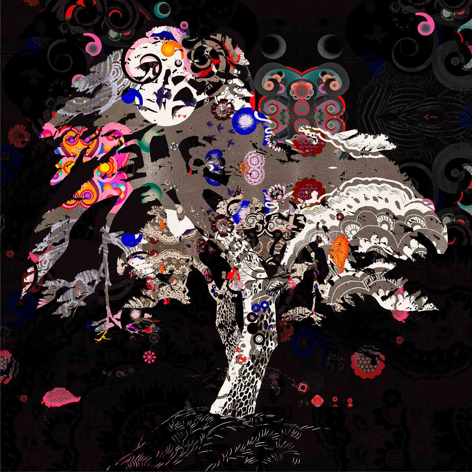 Anca Stefanescu | The Tree & The Noise Inside Digital Art, Limited Edition Print On Canvas