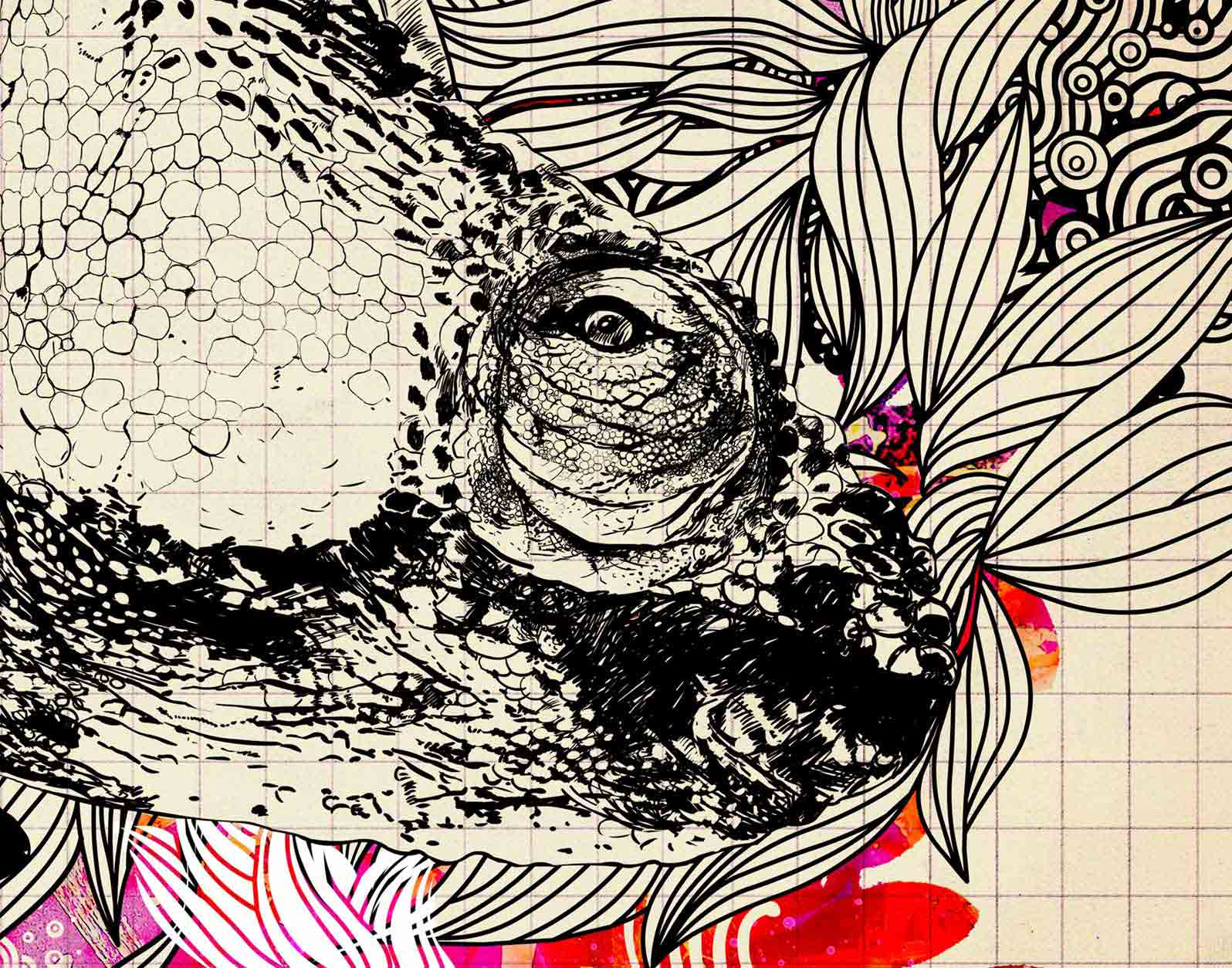 Anca Stefanescu | Chameleon Change, Computer Art, Print On Canvas