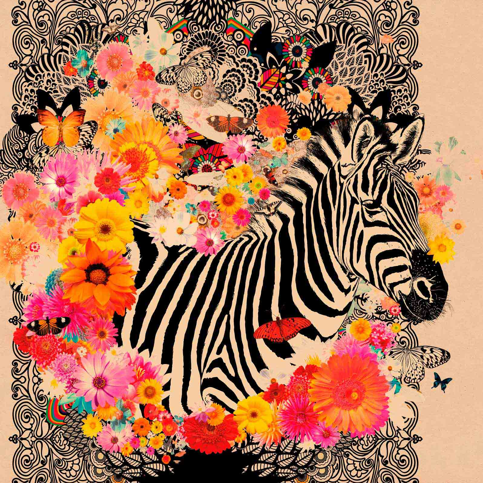 Anca Stefanescu | Contemporary Painter | Happy Zebra, Digital Art