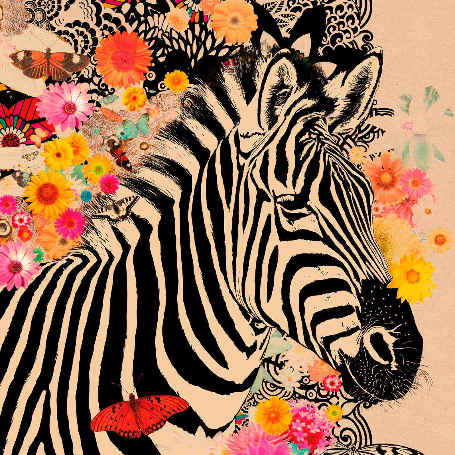Anca Stefanescu | Happy Zebra, Modern Art Paintings