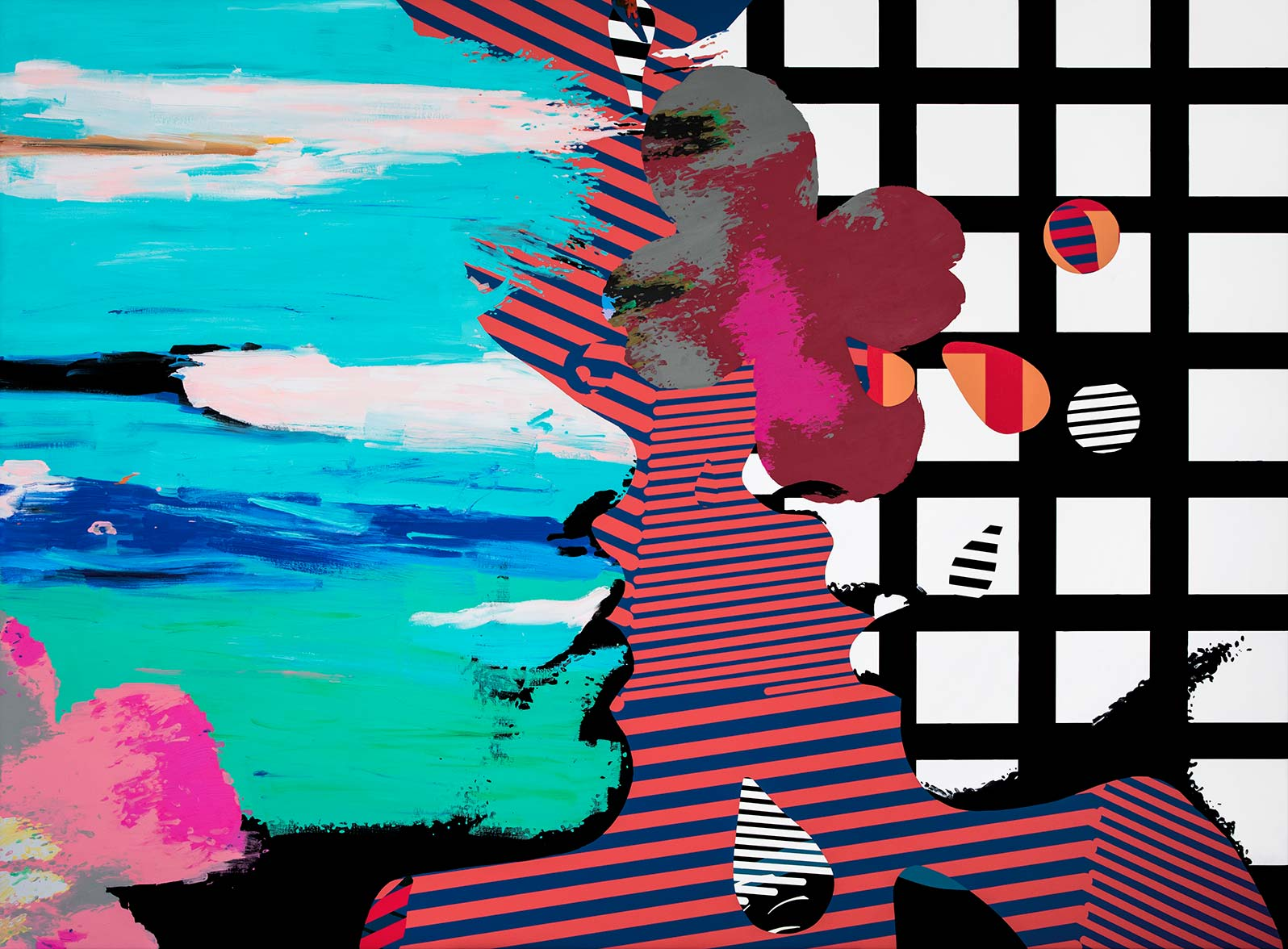 Anca Stefanescu | Mixed Media | Defenselessness, Modern Art Acrylic Paintings