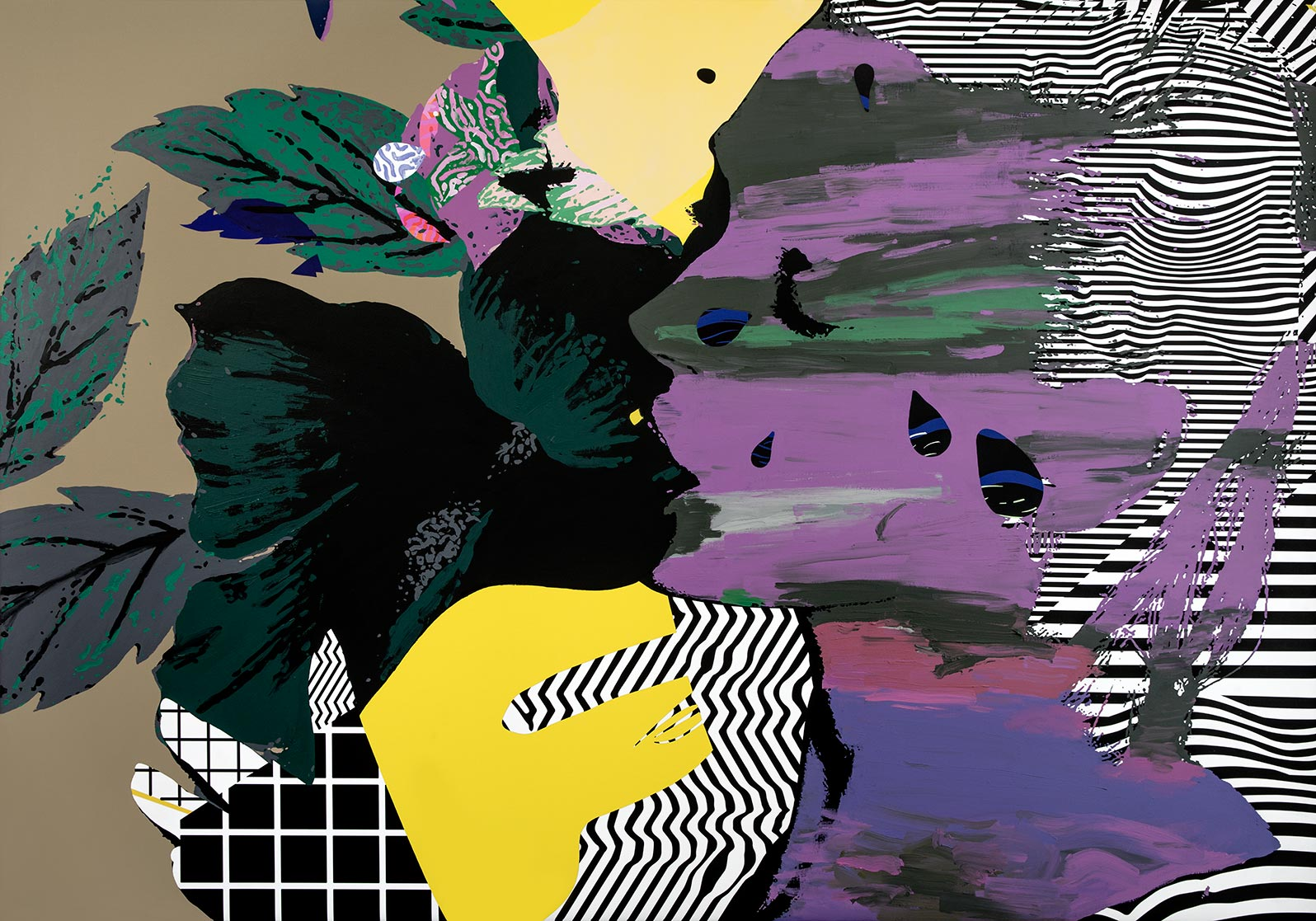 Anca Stefanescu | Mixed Media | TheGardenOfLove, Modern Art Acrylic Paintings