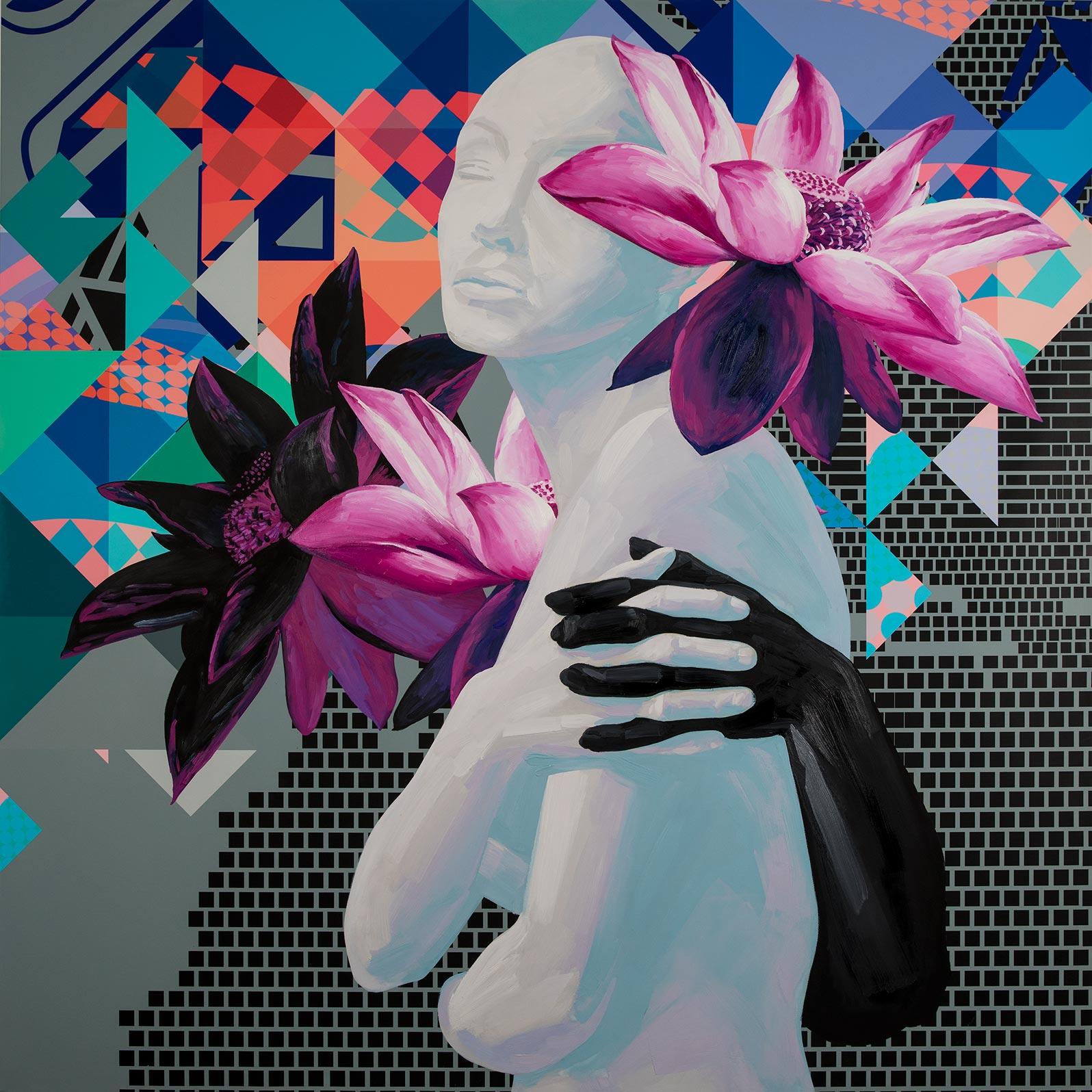 Anca Stefanescu   Mixed Media   LucidDreaming, Modern Art Paintings