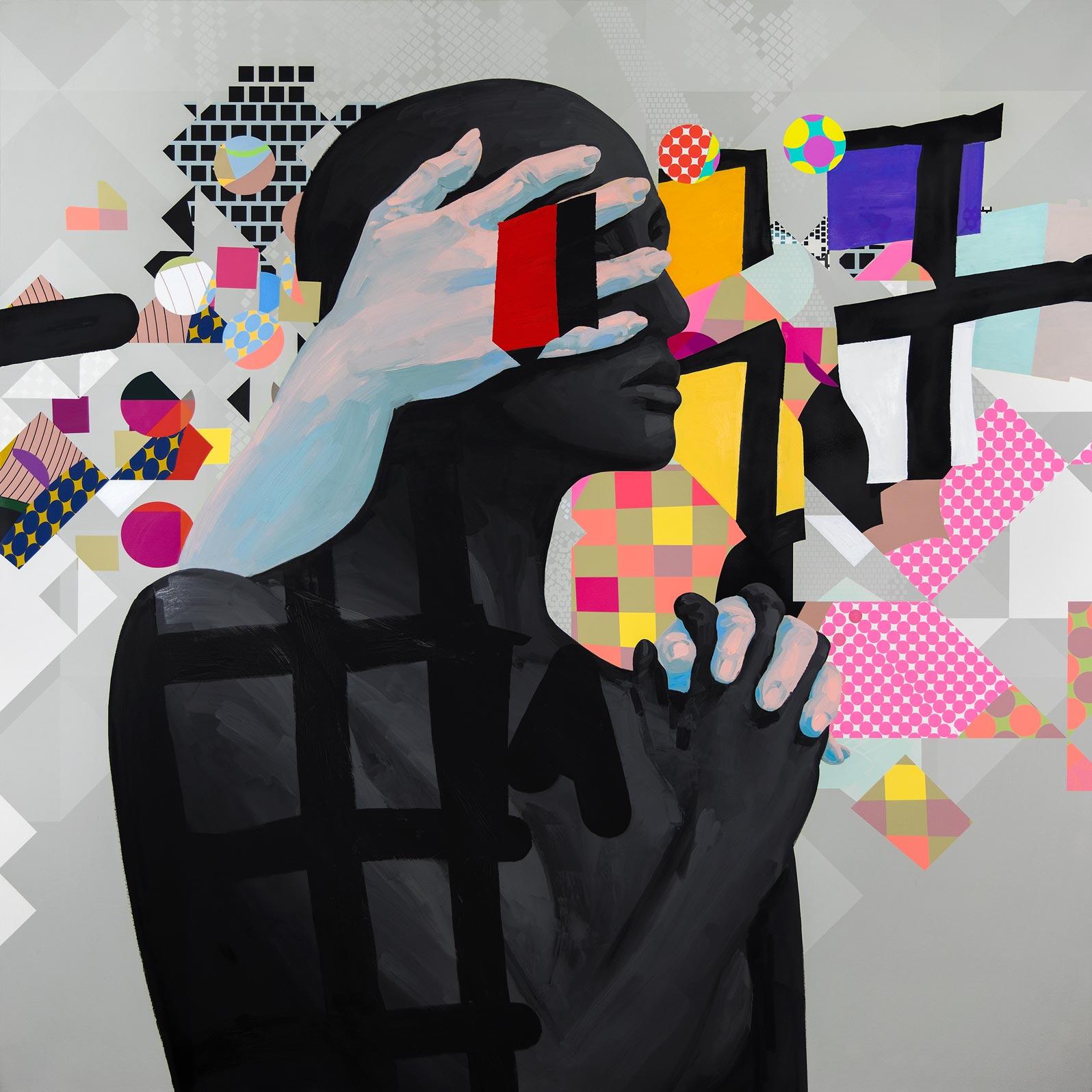 Anca Stefanescu | Mixed Media | HiddenGuidance, Modern Art Paintings