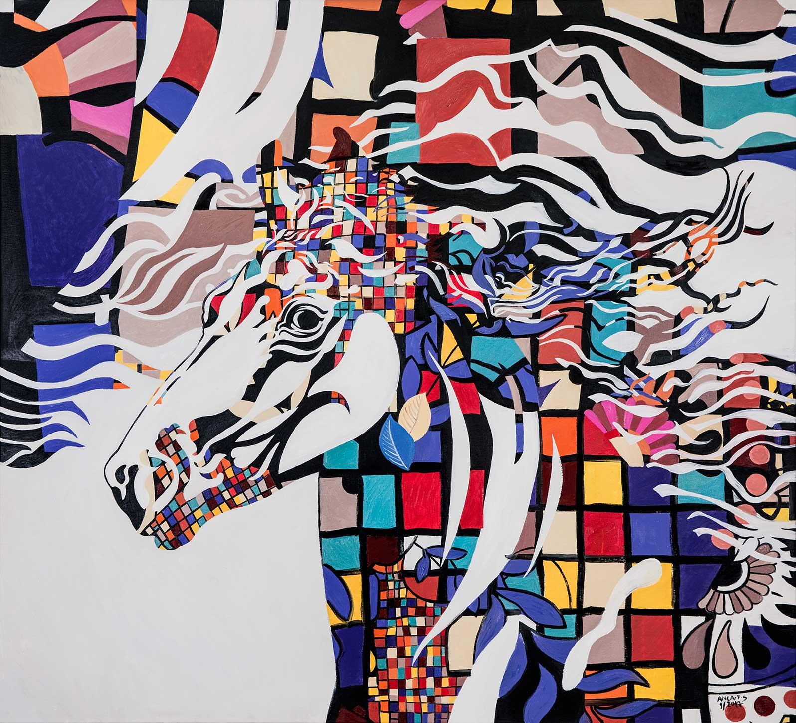 Anca Stefanescu | Pegasus, Modern Art Paintings