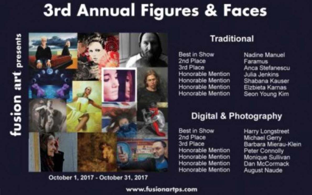 Modern Painter Anca Stefanescu @ 3rd Annual Figures & Faces Exhibition 2017